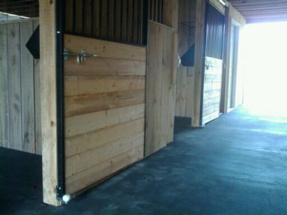 Animat Rubber Stable Mats Fitted in Horse Barn