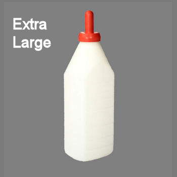Extra large calf feeding bottle