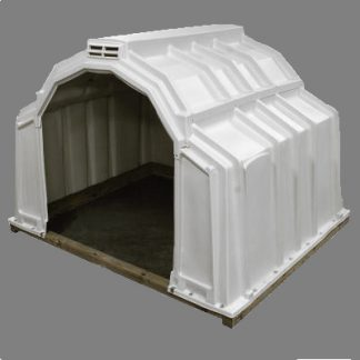 Plastic shelter for alpaca, llamas, small ponies