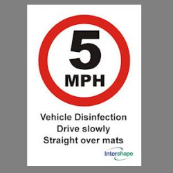 Vehicle Disinfection Sign