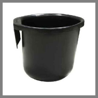 Calf bucket which attaches directly to fence